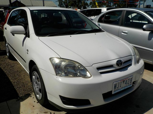 Used Toyota Corolla ZZE122R Ascent Seca Newtown, 2006 Toyota Corolla ZZE122R Ascent Seca White 4 Speed Automatic Hatchback