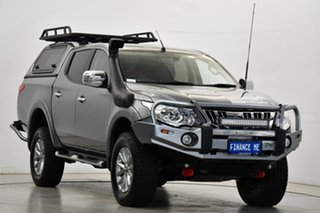 2015 Mitsubishi Triton MQ MY16 Exceed Double Cab Grey 5 Speed Sports Automatic Utility