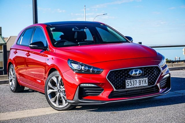 Used Hyundai i30 PD.3 MY19 N Line D-CT Premium Christies Beach, 2018 Hyundai i30 PD.3 MY19 N Line D-CT Premium Red 7 Speed Sports Automatic Dual Clutch Hatchback