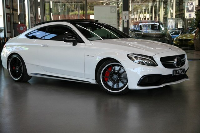 Used Mercedes-Benz C-Class C205 808MY C63 AMG SPEEDSHIFT MCT S North Melbourne, 2018 Mercedes-Benz C-Class C205 808MY C63 AMG SPEEDSHIFT MCT S White 7 Speed Sports Automatic Coupe