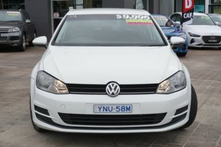2013 Volkswagen Golf VII 90TSI Comfortline White 6 Speed Manual Hatchback.
