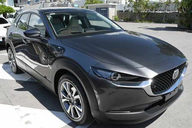 New Mazda CX-30 DM2WLA G25 SKYACTIV-Drive Astina Hindmarsh, 2020 Mazda CX-30 DM2WLA G25 SKYACTIV-Drive Astina Polymetal Grey 6 Speed Sports Automatic Wagon