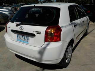 2006 Toyota Corolla ZZE122R Ascent Seca White 4 Speed Automatic Hatchback