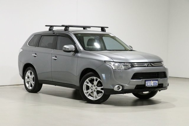 Used Mitsubishi Outlander ZJ Aspire (4x4) Bentley, 2013 Mitsubishi Outlander ZJ Aspire (4x4) Grey Continuous Variable Wagon