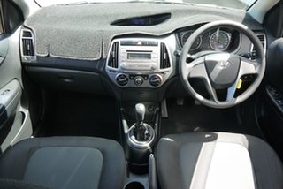 2014 Hyundai i20 PB MY14 Active Silver 6 Speed Manual Hatchback.