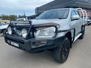 2013 Holden Colorado RG MY14 LX Crew Cab 4x2 Silver 6 Speed Sports Automatic Cab Chassis.
