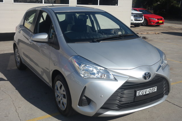 Used Toyota Yaris NCP130R Ascent Maryville, 2019 Toyota Yaris NCP130R Ascent Silver 4 Speed Automatic Hatchback