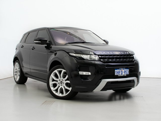 Used Land Rover Range Rover Evoque LV TD4 Dynamic, 2012 Land Rover Range Rover Evoque LV TD4 Dynamic Sumatra Black 6 Speed Automatic Wagon