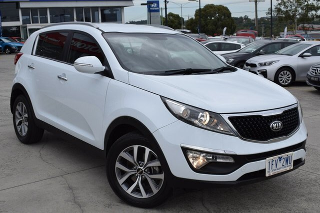 Used Kia Sportage SL MY14 Si 2WD Premium Ferntree Gully, 2015 Kia Sportage SL MY14 Si 2WD Premium White 6 Speed Sports Automatic Wagon