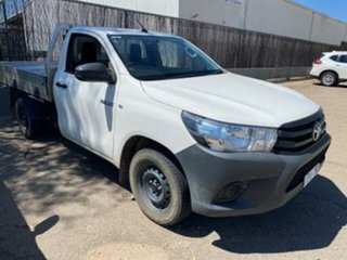 2015 Toyota Hilux TGN121R Workmate Glacier White 6 Speed Automatic Cab Chassis.