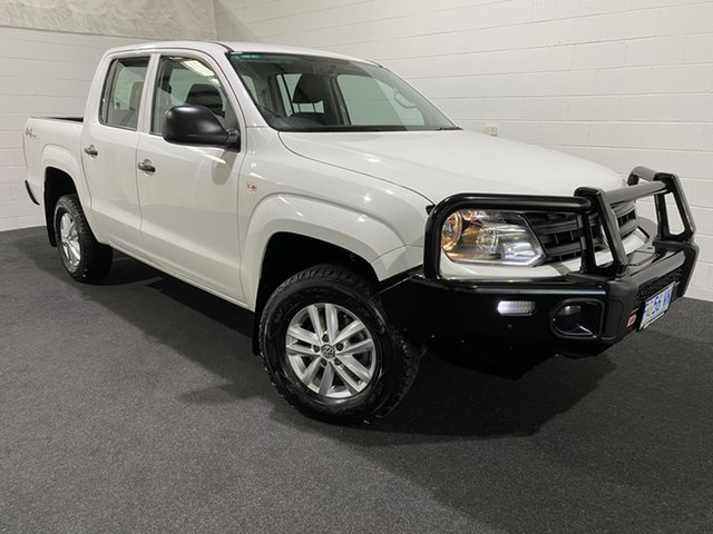 Used Volkswagen Amarok 2H MY17 TDI420 4MOTION Perm Core Glenorchy, 2017 Volkswagen Amarok 2H MY17 TDI420 4MOTION Perm Core White 8 Speed Automatic Utility