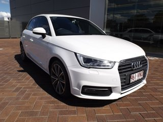 2015 Audi A1 8X MY15 Sport Sportback S Tronic White 7 Speed Sports Automatic Dual Clutch Hatchback.