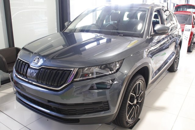 New Skoda Kodiaq NS MY21 132TSI DSG Parramatta, 2021 Skoda Kodiaq NS MY21 132TSI DSG Quartz Grey 7 Speed Sports Automatic Dual Clutch Wagon