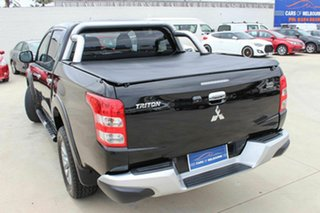 2016 Mitsubishi Triton MQ MY16 GLS Double Cab Black 6 Speed Manual Utility.