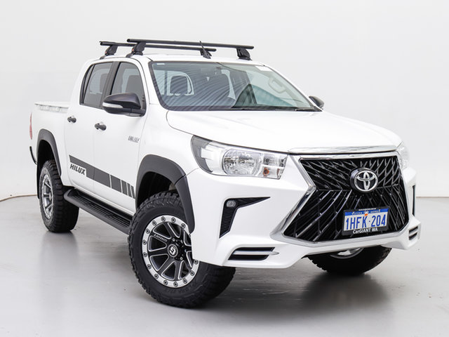 Used Toyota Hilux GUN125R MY17 Workmate (4x4), 2017 Toyota Hilux GUN125R MY17 Workmate (4x4) White 6 Speed Automatic Dual Cab Chassis