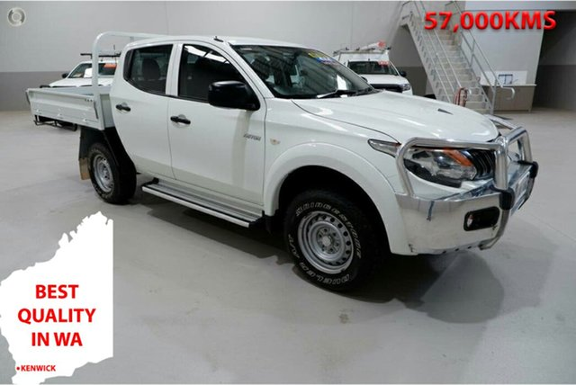 Used Mitsubishi Triton MQ MY17 GLX Double Cab Kenwick, 2017 Mitsubishi Triton MQ MY17 GLX Double Cab White 6 Speed Manual Cab Chassis