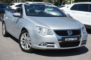 2008 Volkswagen EOS 1F MY09 147TSI DSG Silver 6 Speed Sports Automatic Dual Clutch Convertible.