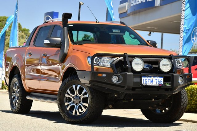 Used Ford Ranger PX MkII Wildtrak Double Cab Melville, 2017 Ford Ranger PX MkII Wildtrak Double Cab Orange 6 Speed Sports Automatic Utility
