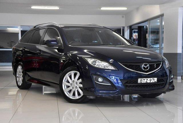 Used Mazda 6 GH1051 MY09 Classic Waitara, 2010 Mazda 6 GH1051 MY09 Classic Blue 5 Speed Sports Automatic Wagon
