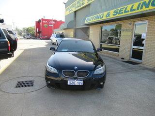 2006 BMW 540i E60 540i Black 6 Speed Automatic Sedan.