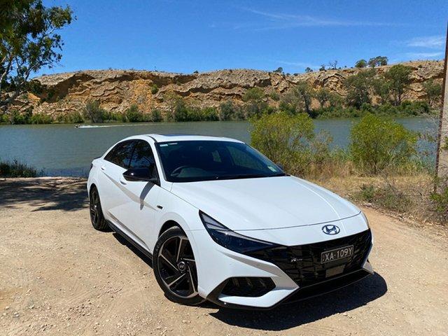 Demo Hyundai i30 CN7.V1 MY21 N Line Premium Reynella, 2020 Hyundai i30 CN7.V1 MY21 N Line Premium Polar White 7 Speed Auto Dual Clutch Sedan