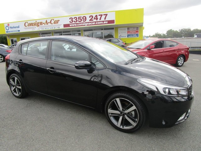 Used Kia Cerato YD MY18 Sport Kedron, 2018 Kia Cerato YD MY18 Sport Black 6 Speed Sports Automatic Hatchback