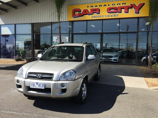 Used Hyundai Tucson MY07 City SX Traralgon, 2007 Hyundai Tucson MY07 City SX Silver 5 Speed Manual Wagon
