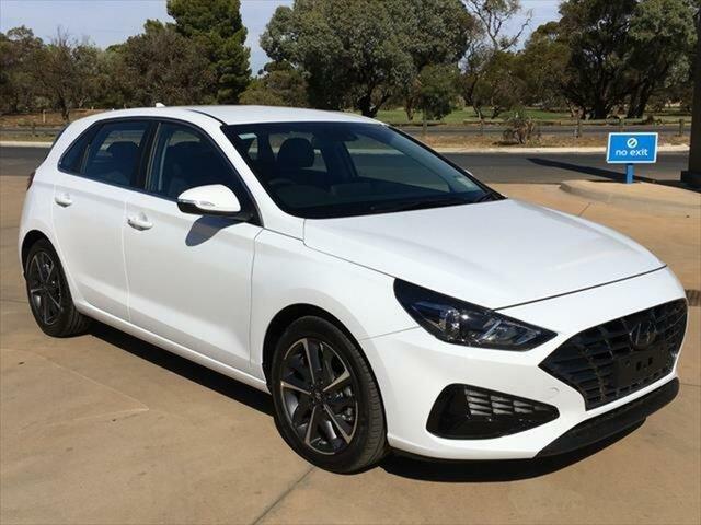 Demo Hyundai i30 PD.V4 MY21 Elite Berri, 2020 Hyundai i30 PD.V4 MY21 Elite Polar White 6 Speed Sports Automatic Hatchback