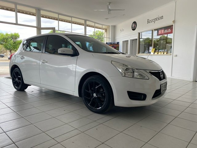 Used Nissan Pulsar C12 ST-S Loxton, 2013 Nissan Pulsar C12 ST-S White Continuous Variable Hatchback