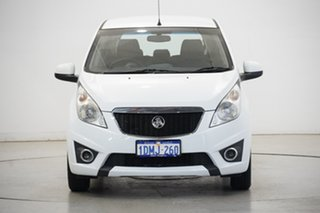 2010 Holden Barina Spark MJ MY11 CD White 5 Speed Manual Hatchback.