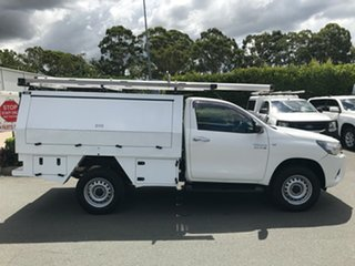 2015 Toyota Hilux GUN126R SR White 6 speed Automatic Cab Chassis