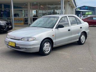 1996 Hyundai Excel LX Silver 4 Speed Automatic Hatchback.