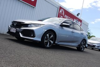 2017 Honda Civic 10th Gen MY17 RS Silver 1 Speed Constant Variable Hatchback.