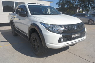 2018 Mitsubishi Triton MQ MY18 GLS Double Cab White 5 Speed Sports Automatic Utility.