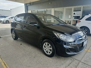 2014 Hyundai Accent RB2 Active Black 4 Speed Sports Automatic Hatchback.