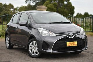 2015 Toyota Yaris NCP130R Ascent Grey 5 Speed Manual Hatchback.