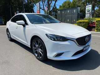 2015 Mazda 6 GJ1032 GT SKYACTIV-Drive White 6 Speed Sports Automatic Sedan.