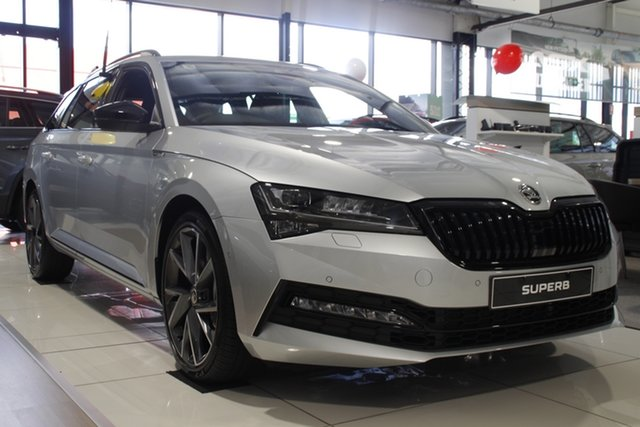 New Skoda Superb NP MY21 206TSI DSG SportLine Parramatta, 2020 Skoda Superb NP MY21 206TSI DSG SportLine Brilliant Silver 6 Speed Sports Automatic Dual Clutch