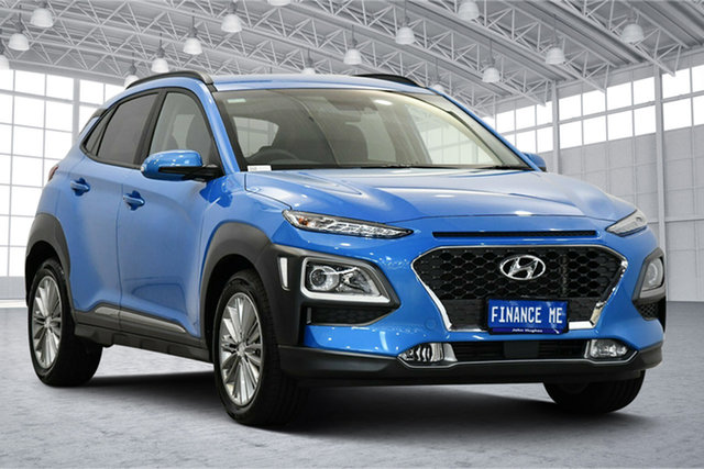 Used Hyundai Kona OS.3 MY20 Elite D-CT AWD Victoria Park, 2020 Hyundai Kona OS.3 MY20 Elite D-CT AWD Blue Lagoon 7 Speed Sports Automatic Dual Clutch Wagon