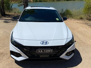 2020 Hyundai i30 CN7.V1 MY21 N Line Premium Polar White 7 Speed Auto Dual Clutch Sedan.