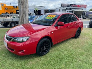 2009 Subaru Impreza G3 MY09 RX AWD Red 5 Speed Manual Sedan.