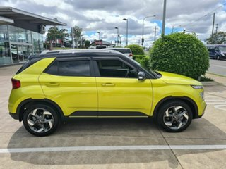 2020 Hyundai Venue QX MY20 Elite Yellow 6 Speed Automatic Wagon.