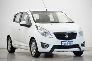 2010 Holden Barina Spark MJ MY11 CD White 5 Speed Manual Hatchback