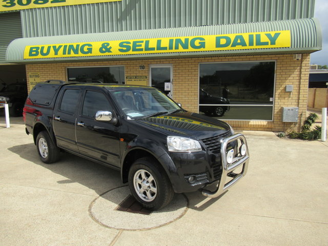 Used Great Wall V200 K2 Mandurah, 2012 Great Wall V200 K2 Black 6 Speed Manual Dual Cab