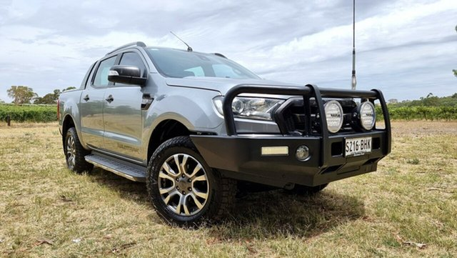 Used Ford Ranger PX MkII Wildtrak Double Cab Nuriootpa, 2015 Ford Ranger PX MkII Wildtrak Double Cab Aluminium 6 Speed Sports Automatic Utility