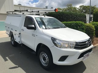 2015 Toyota Hilux GUN126R SR White 6 speed Automatic Cab Chassis.