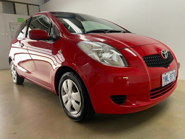 Used Toyota Yaris NCP90R YR Phillip, 2007 Toyota Yaris NCP90R YR Red 5 Speed Manual Hatchback
