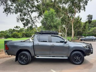 2018 Toyota Hilux GUN126R SR5 Double Cab Grey 6 Speed Sports Automatic Utility.
