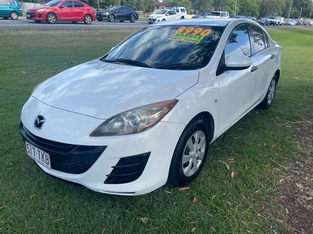 Used Mazda 3 BK10F2 MY08 Neo Sport Clontarf, 2009 Mazda 3 BK10F2 MY08 Neo Sport White 5 Speed Manual Hatchback