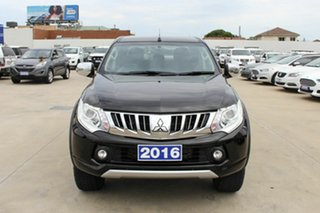 2016 Mitsubishi Triton MQ MY16 GLS Double Cab Black 6 Speed Manual Utility